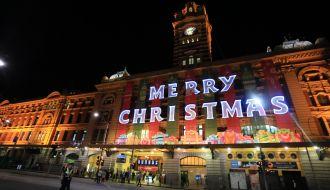 Iconic Flinder Street Station Melbourne