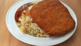 Rice and Schnitzel Combination