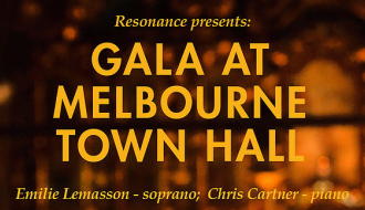 Resonance Launch at Melbourne Town Hall