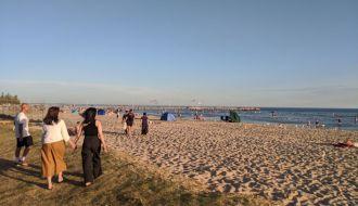 A summer evening visit to Altona Beach Melbourne