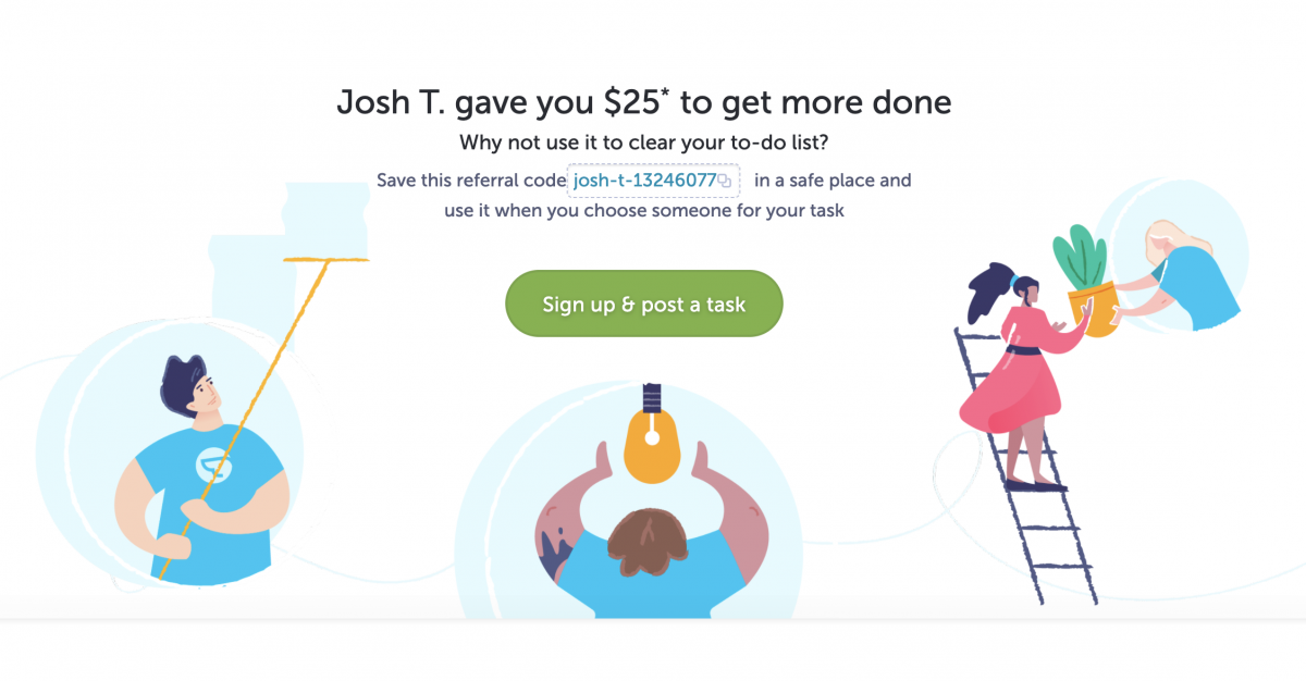 25 dollar off your task coupon code