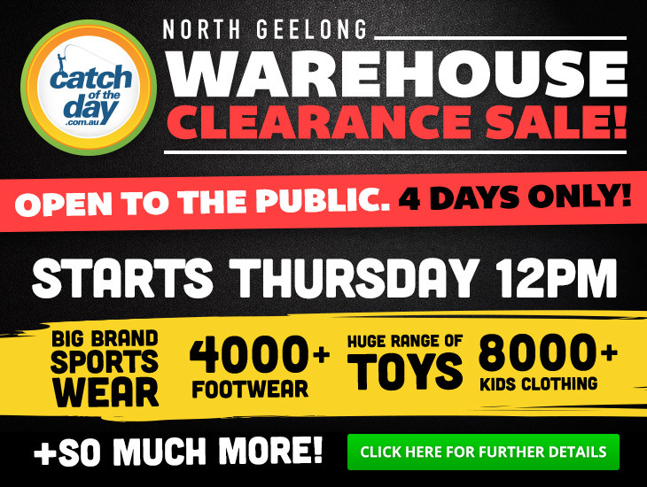 Catch of the day warehouse sale melbourne