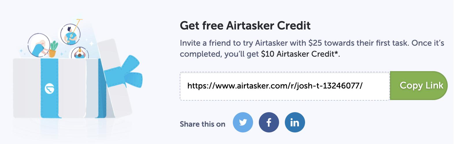 airtasker free coupon code australia