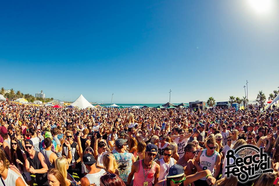 The St Kilda Foreshore Slam Beach Festival 2015 (image: official FB page)