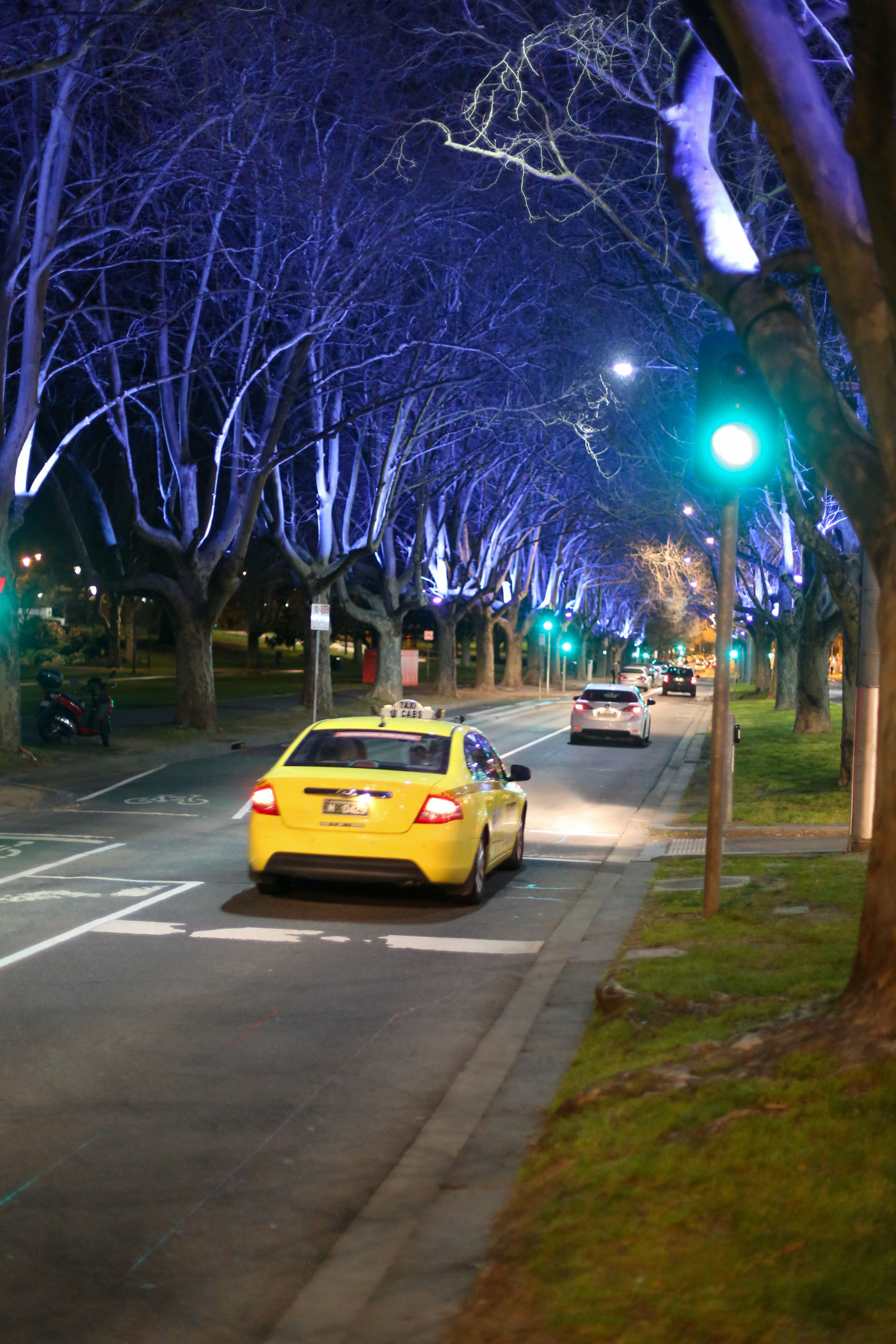 stkilda road southbank lighting road