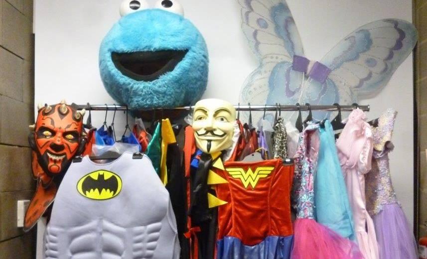 creative costumes garage sale