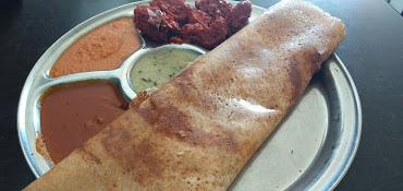 dosa and chicken 65 at rich mahal