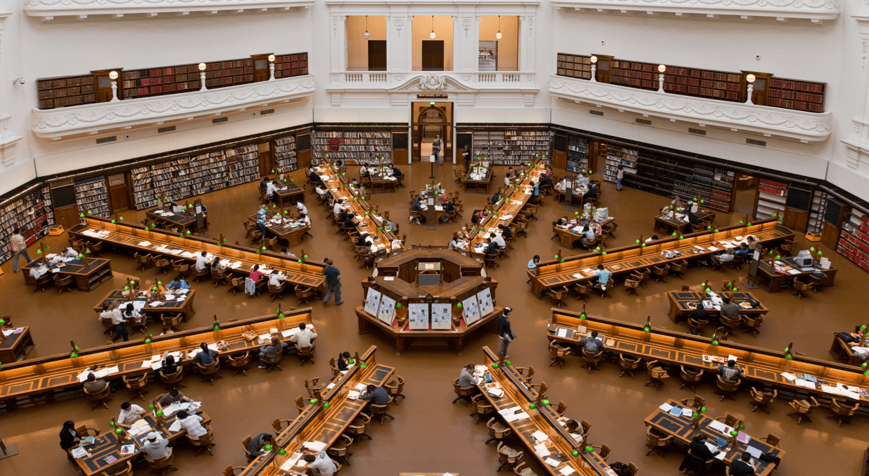 state library of victoria inside melbourne